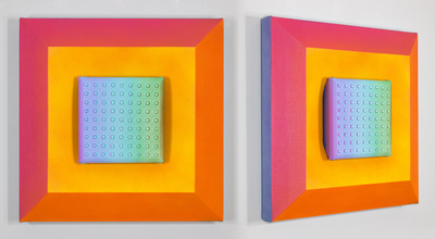 Shaped canvases by tim kent for Chroma mural paint